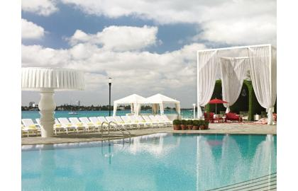 The sunset lounge at the Mondrean Hotel Miami
