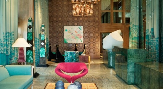 The unique and lovely lobby at the Viceory Hotel in Miami (Courtesy of Viceory Hotels website)
