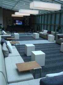 Element's VIP open lounge lobby area