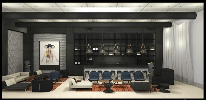 AC Marriott Herzeliya – bar area rendering