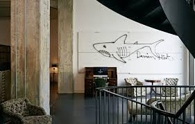 Graffiti by Damien Hirst in Soho House hotel